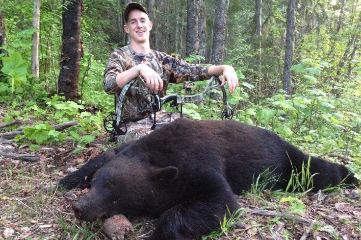 Davy Beecroft's Bear Davy was determined to harvest a bear with his bow on the first night of the hunt.