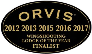Orvis Wingshooting Lodge of the Year Finalist 2013, 2015, 2016, 2017