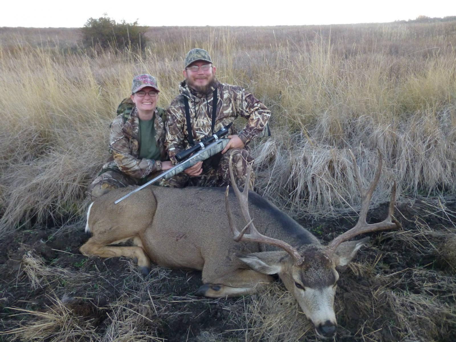 veteran with mule deer